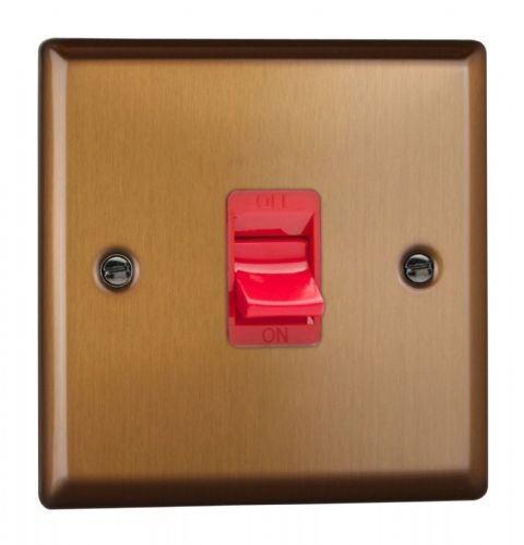 Varilight XY45S.BZ Urban Brushed Bronze 45A DP Cooker Switch Single Plate